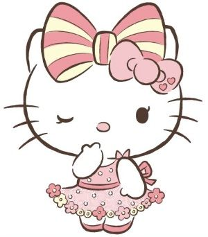 I Would Love This In My Arm I Would Alter A Few Things Like The Hands On The Mouth And The Dress Hello Kitty Printables Hello Kitty Tattoos Hello Kitty Art