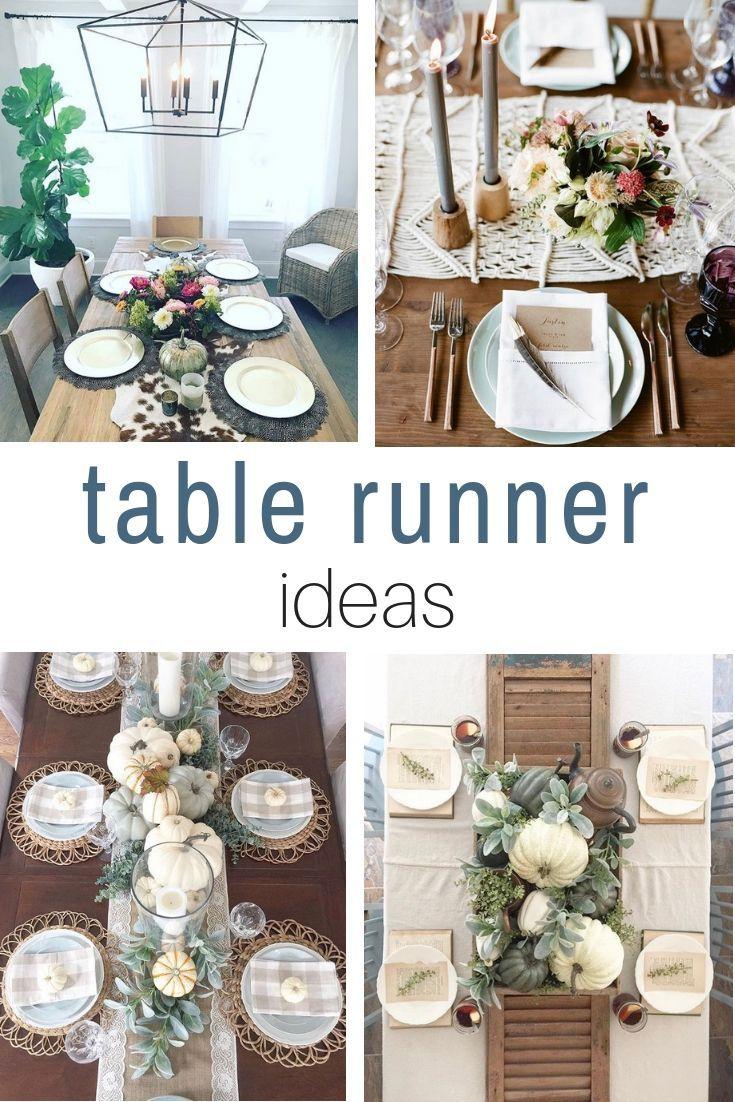 STUNNING FALL TABLE RUNNER IDEAS Farmhouse table runners