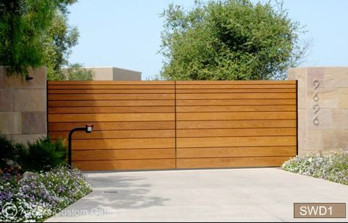 Gates Access Garage Door Corten Steel Wood Gate