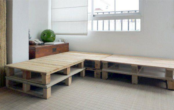 DIY Möbel Aus Europaletten Sofa Auflagen Wohnlandschaft