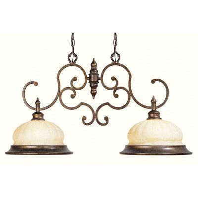 Livex Lighting Renaissance  Kitchen Island Pendant in Moroccan Gold