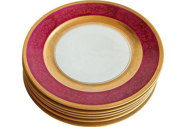 Antique German Dinner Plates Set of 6 on OneKingsLane.com $690 to $365 Set  sc 1 st  Pinterest & Antique German Dinner Plates Set of 6 on OneKingsLane.com $690 to ...