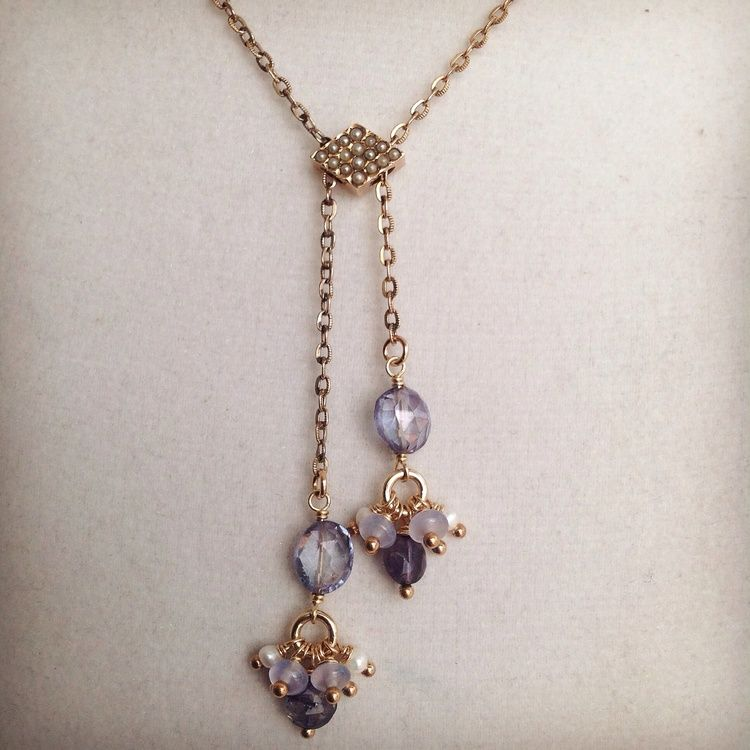 GotRocks Jewelry Design bridal necklace, wedding jewelry. Old, new, and blue. GotRocksJewelryDesign.com