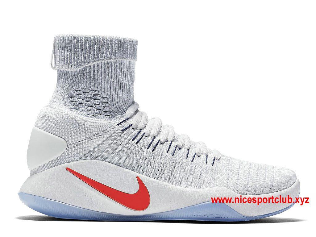4a9033bf6c15 Chaussures De BasketBall Nike Hyperdunk 2016 Flyknit USA Home Prix Homme  Pas…