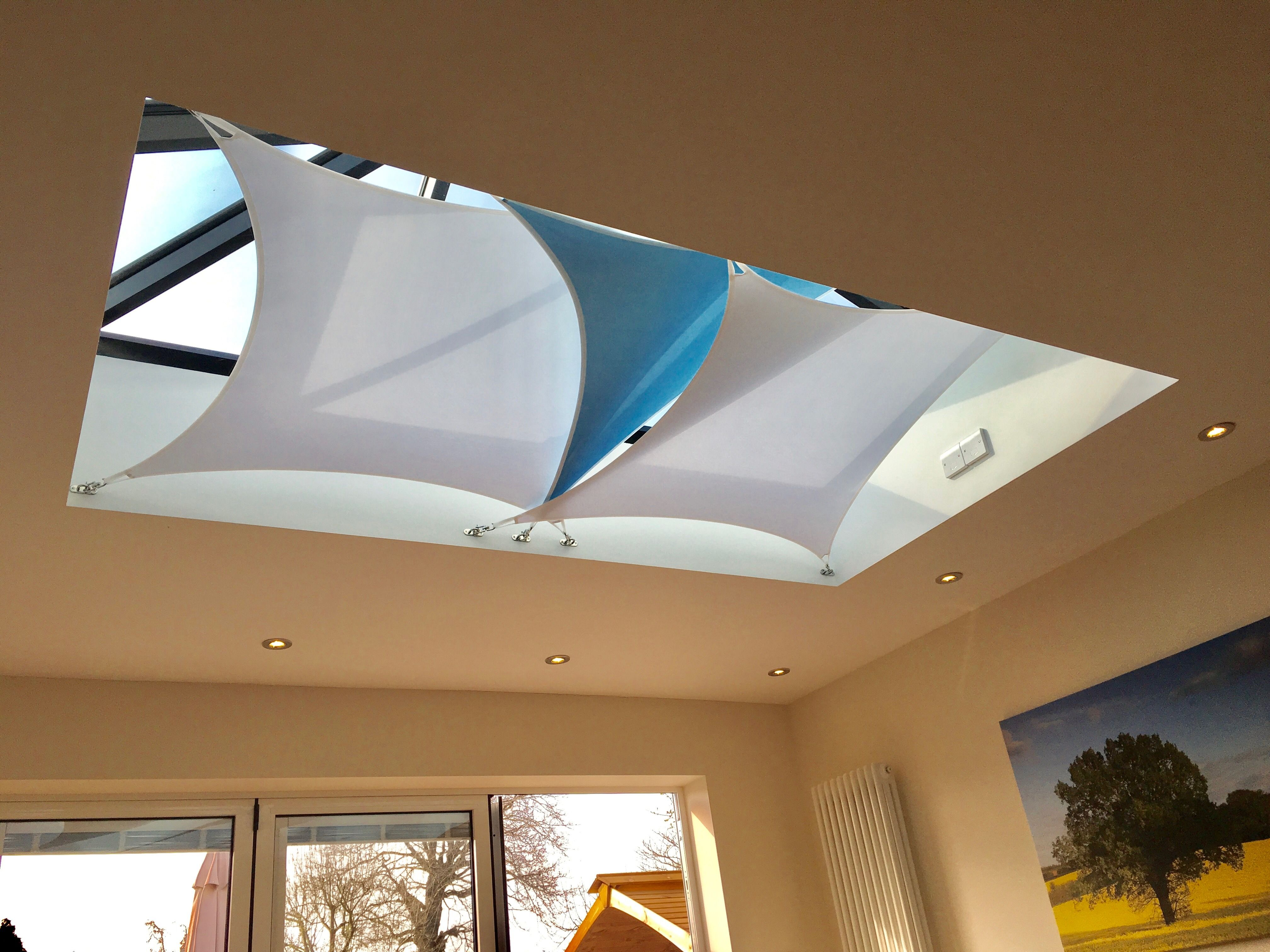 Roof Lantern Shading Solution In Camberley Surrey By County Shades Roof Lantern Shades Conservatory