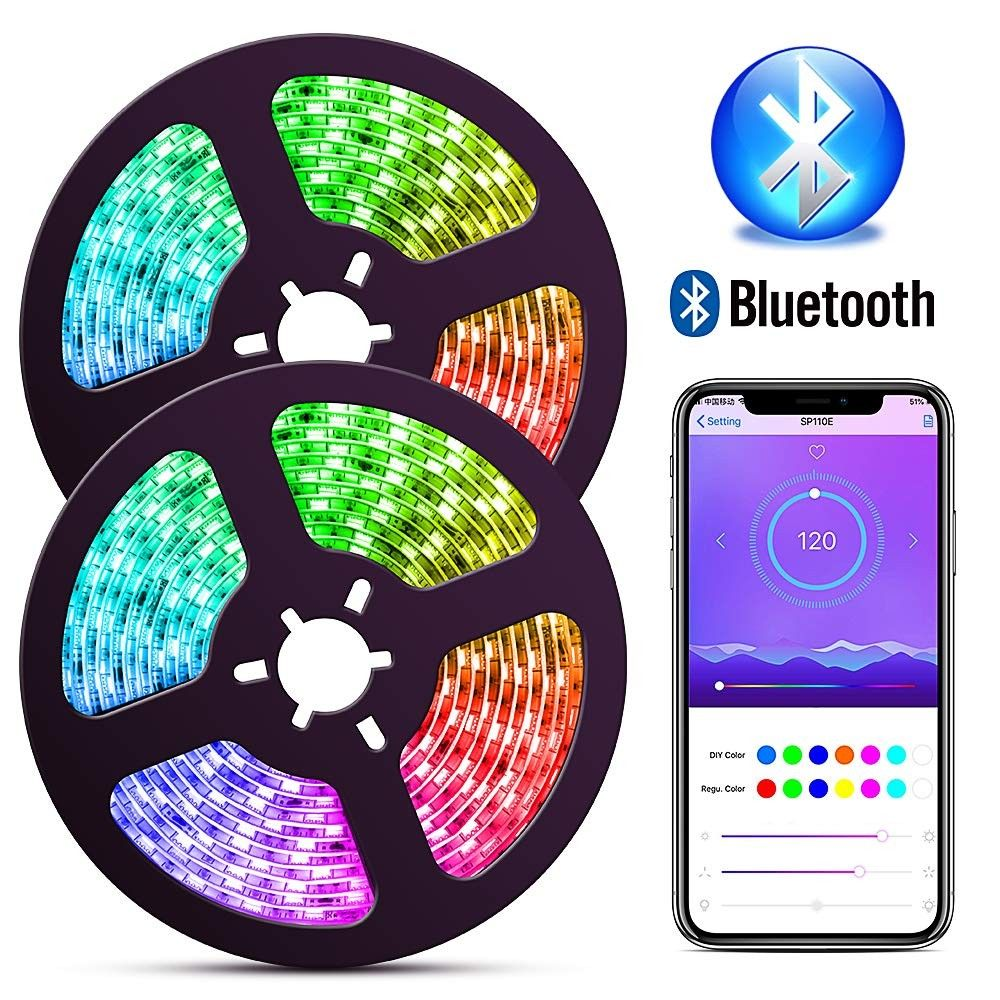 Bluetooth Dream Color Led Strip Lights With App 10m 32 8ft Music Lights With Multicolor Chasing Waterproof Rgb Rope Lights Kit 300 Leds Smd 5050 Flexible Strip Lighting Led