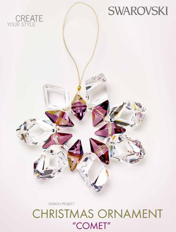 Diy Swarovski Christmas Ornament Free Design And Instructions Swarovski Christmas Ornaments Swarovski Christmas Crystal Ornaments Diy