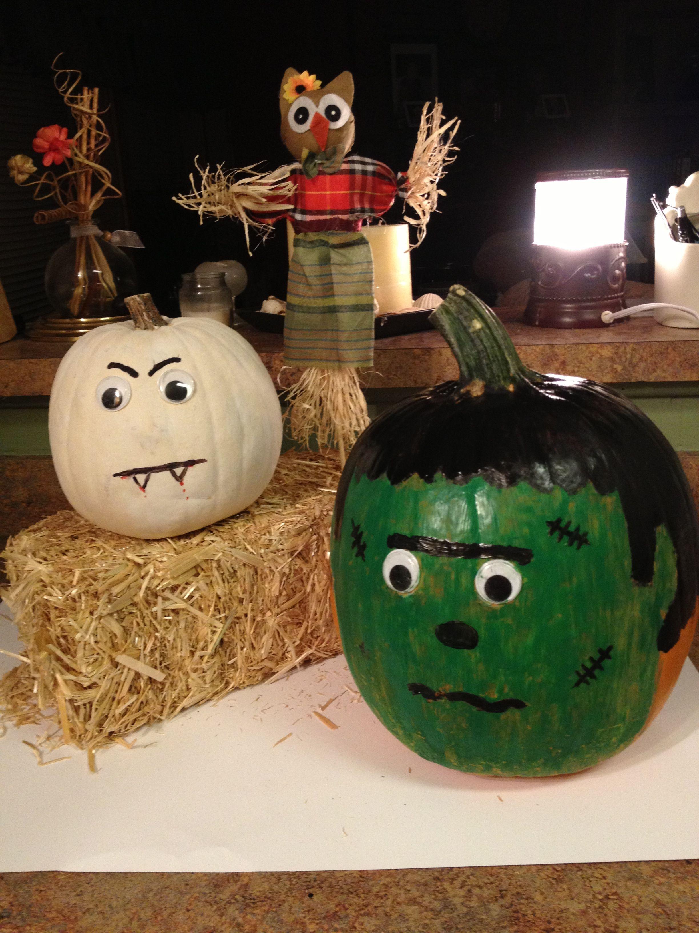 Painted pumpkins ) Painted pumpkins, Pumpkin decorating