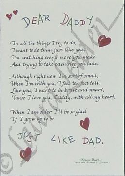 Dear Daddy Poem Picture Frame All Things For Mom I Love This