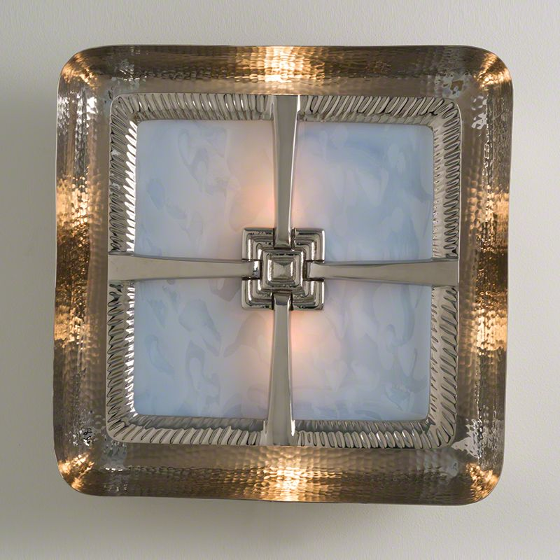 Global views hardwired maze wall sconce nickel