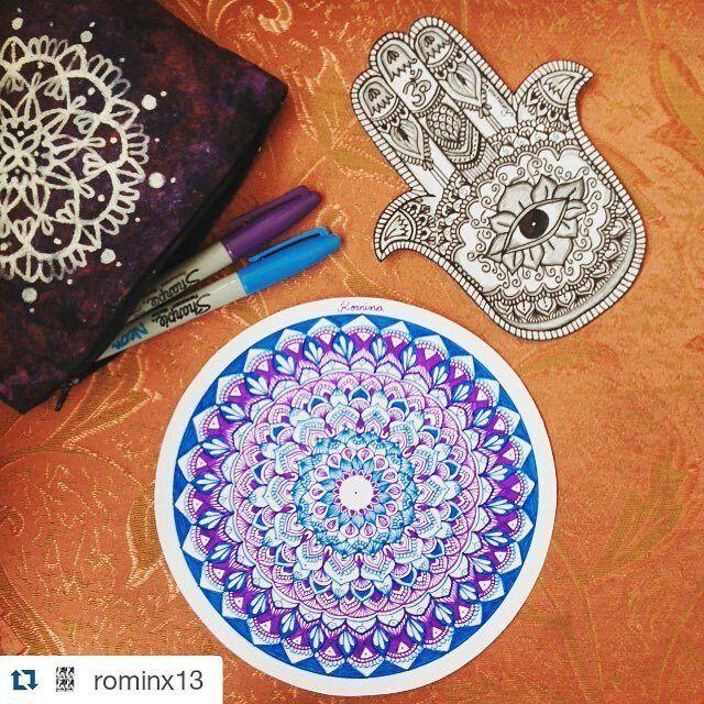 #Repost @rominx13  #jamsa #manodefatima #mandala #mandalas #fineart #finepoint #artist #zendoodle #zentangle #zentangleart #zentangleartist #colorfull #lovemandalas