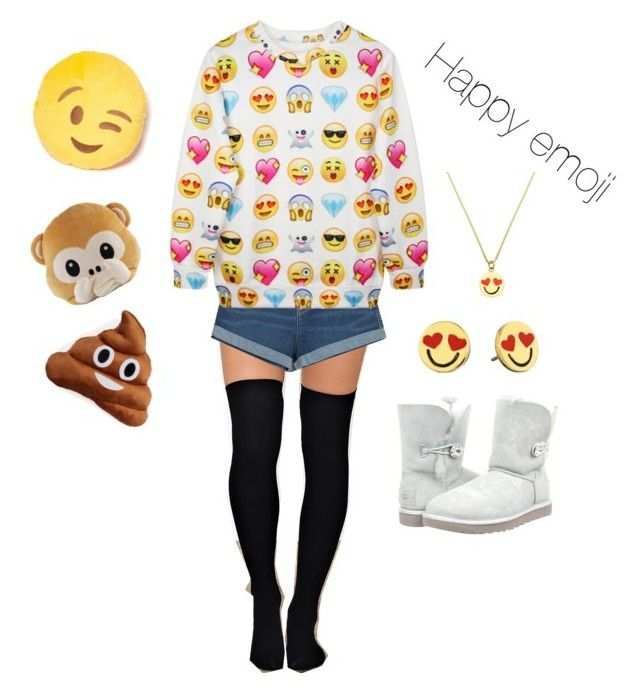 """Happy"" by predalian on Polyvore featuring Zara, Chicnova Fashion, UGG Australia, Throwboy and Kate Spade"