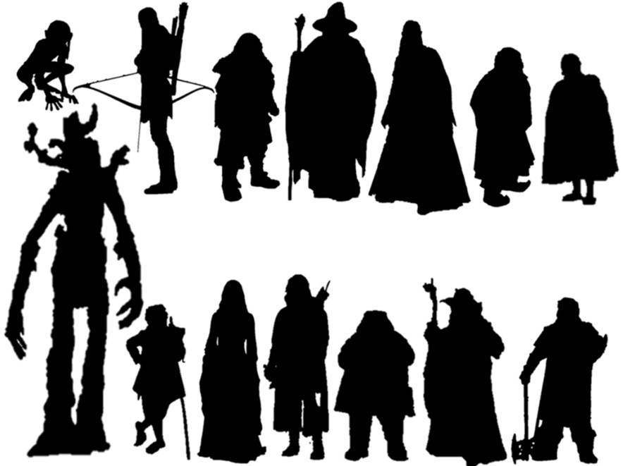 Lord Of The Rings Character Silhouettes