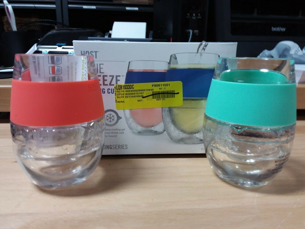 Host Wine Freeze Cooling Cups Coral Teal Host Teal Wine Cup