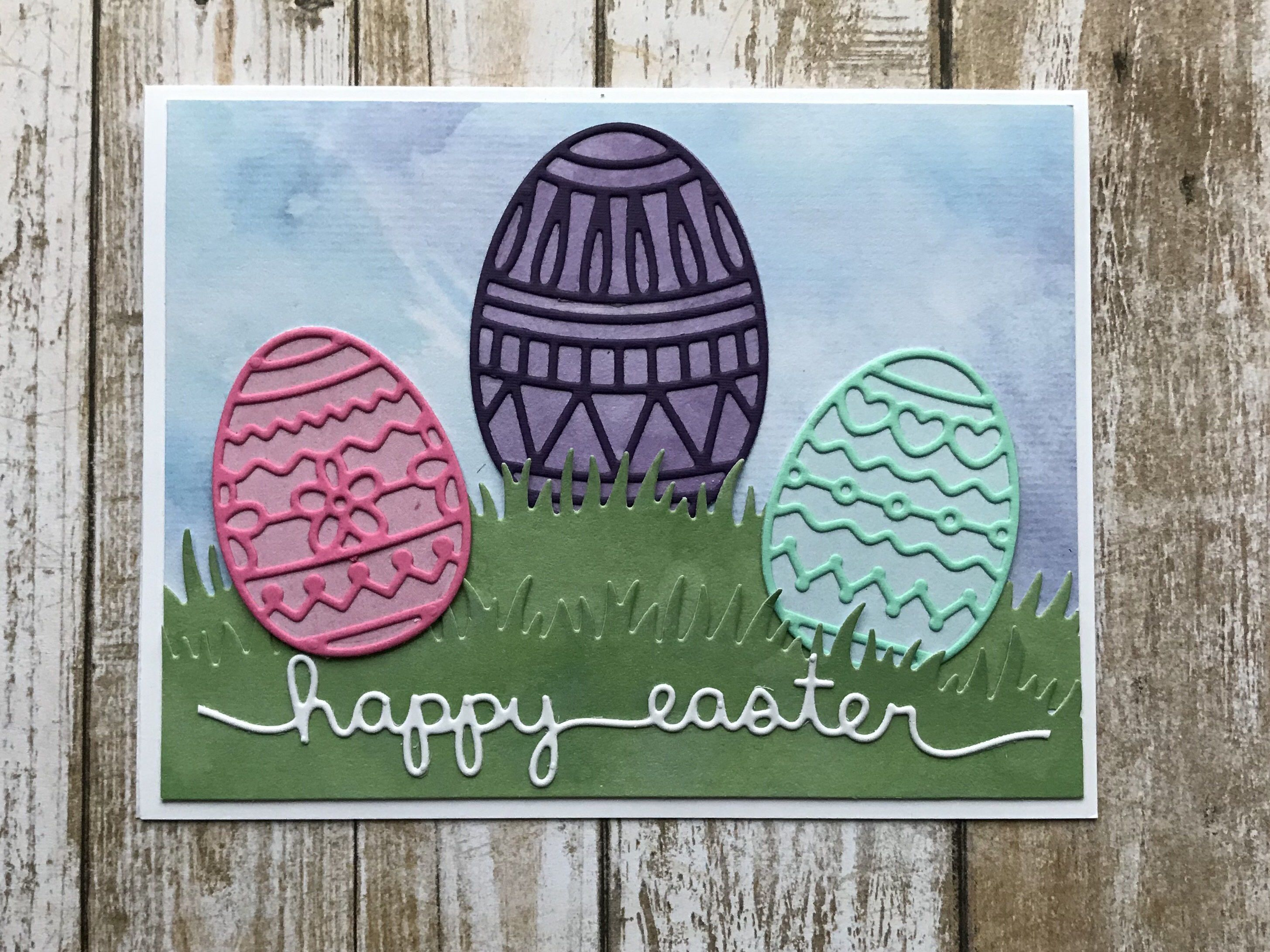 Easter Card Easter Greeting Card Happy Easter Easter Egg Card