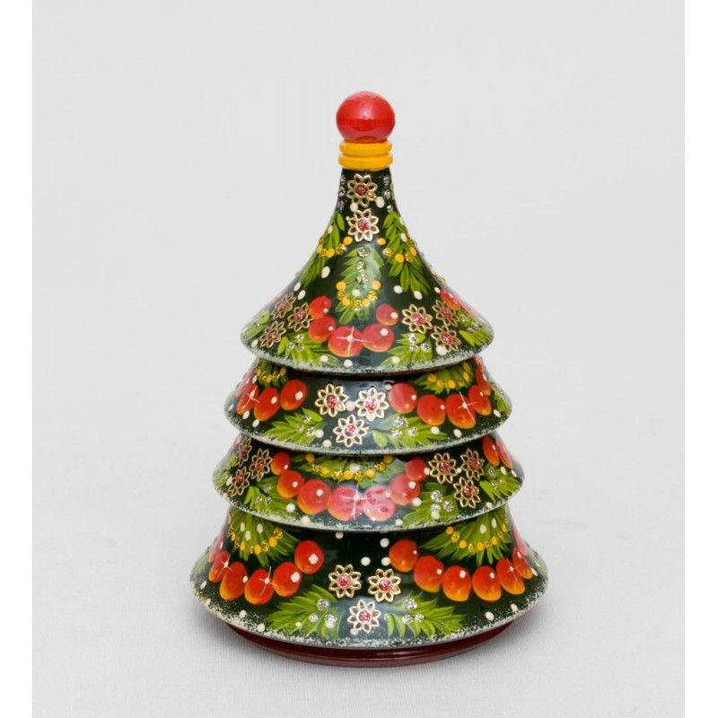 """Christmas Tree"" Set of 3 Miniature Nesting Dolls"