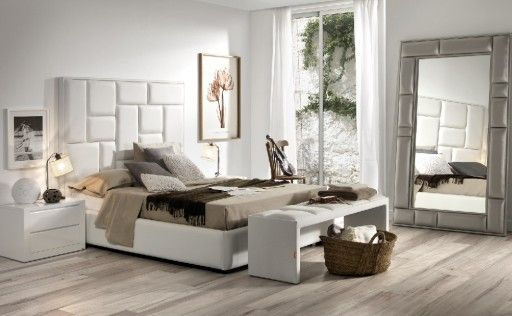 camas tapizada de la coleccin square de kibuc cabezal tapizado en