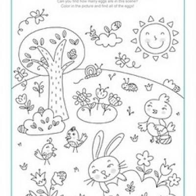 easter coloring pages kids activities - Kids Coloring Activities