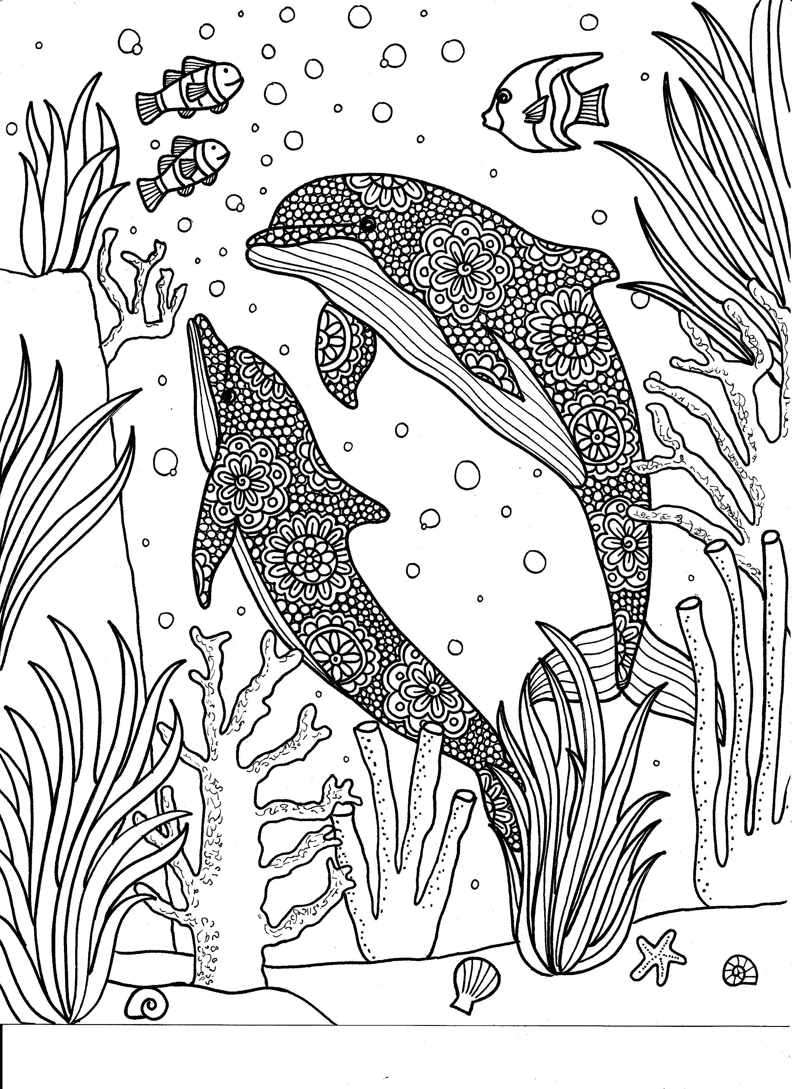 Inkspirations Animal Kingdom Dolphin Coloring Pages Animal Coloring Pages Coloring Pages