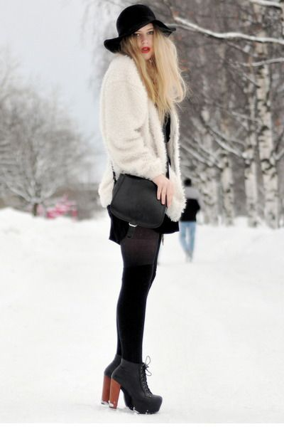 litas with black tights in winter how to wear pinterest jeffrey campbell black tights. Black Bedroom Furniture Sets. Home Design Ideas