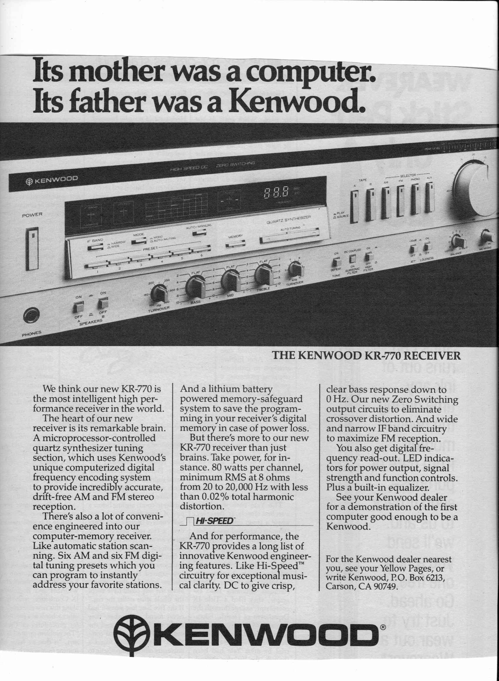 1980 Kenwood Kr 770 Receiver Home Stereo Ad Rolling Stone College Wiring Diagram For Surround Sound Papers Winter