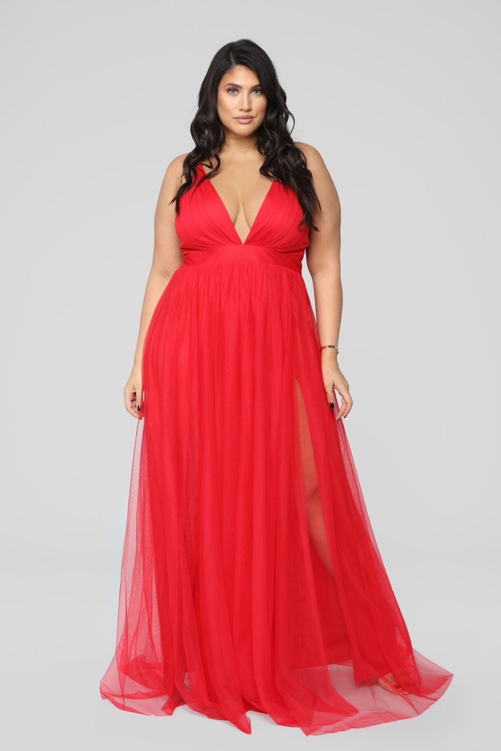 On The Runway Maxi Dress Red Plus size red dress