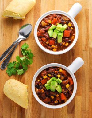 Slow Cooker Skinny Vegetarian Chili