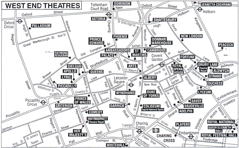 London Theatre Map London Theatre Pinterest London theater