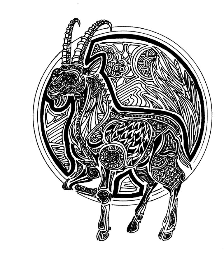 Year Of The Goat Pen Ink