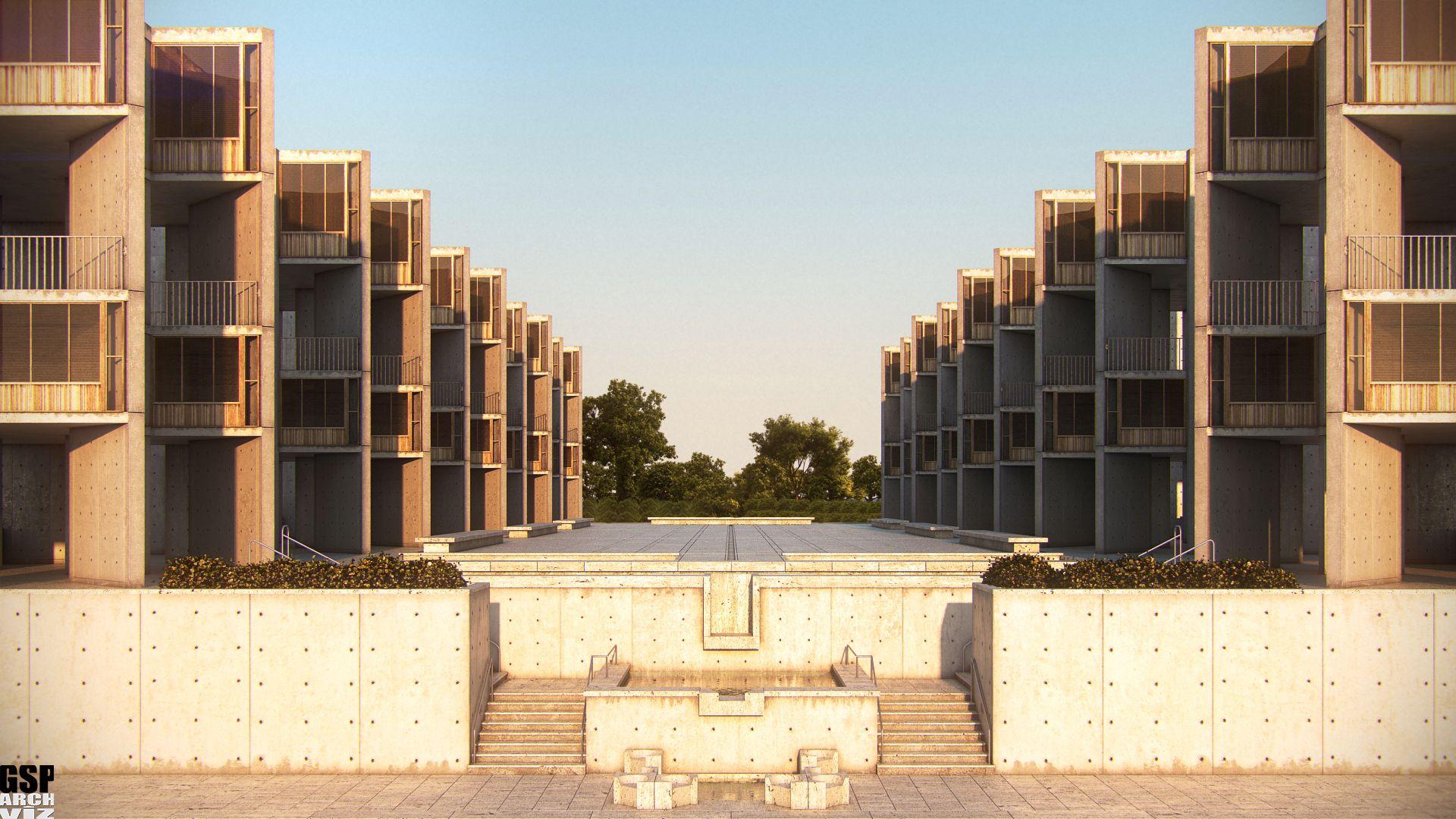 1965 Salk Institute San Diego Louis Kahn Arquitectura