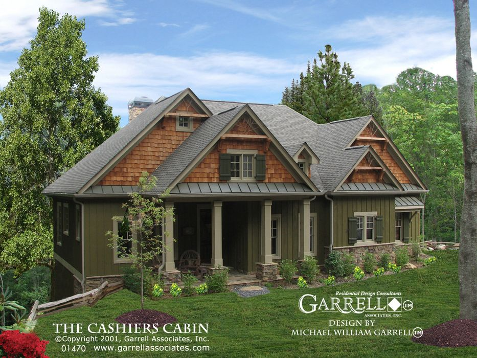 amazing house plans lodge style #8: Cashiers Cabin House Plan 01470, Front Elevation, Mountain Style House Plans,  Cabin Style