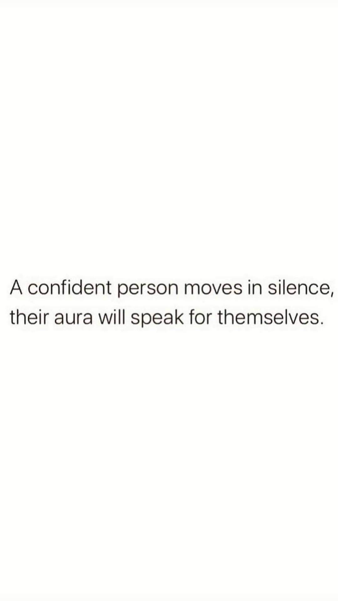 Be silent bout those goals and keep working