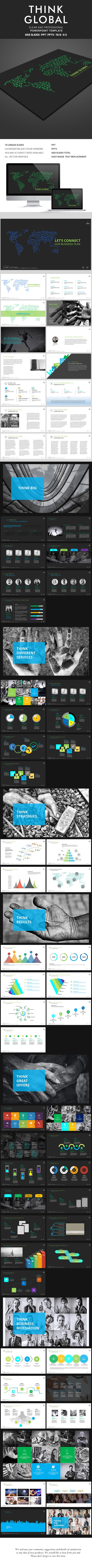 think global powerpoint presentation | powerpoint presentation, Presentation templates