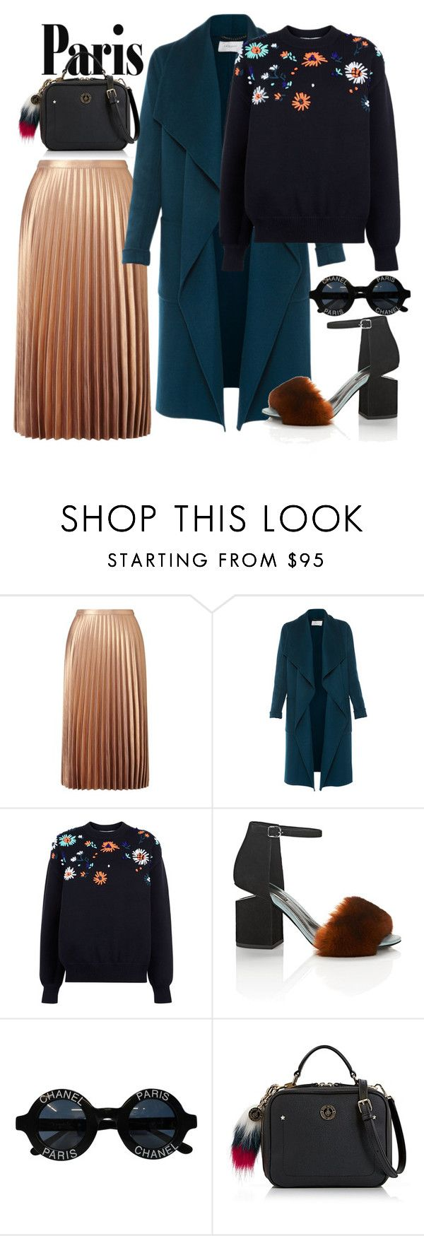"""""""Untitled #120"""" by sophie-dca ❤ liked on Polyvore featuring Miss Selfridge, L.K.Bennett, Victoria, Victoria Beckham, Alexander Wang, Chanel, StreetStyle, Fall, paris and 2016"""