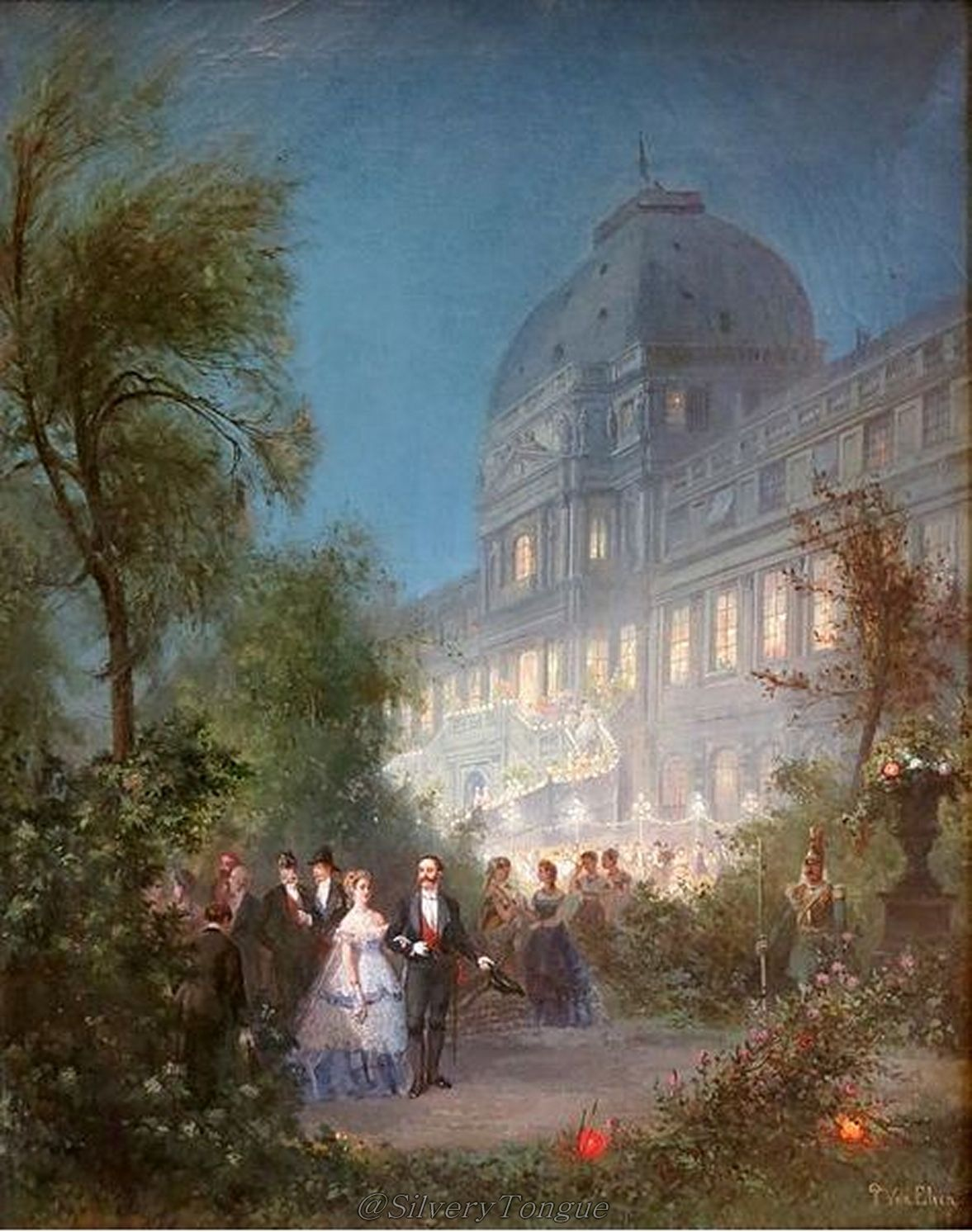 Festival at Night at the Tuileries June 10, 1867.