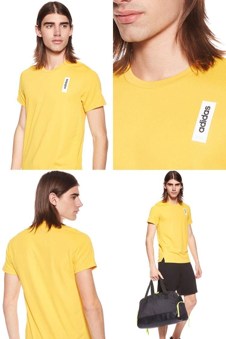 tee shirt adidas hommes jaune