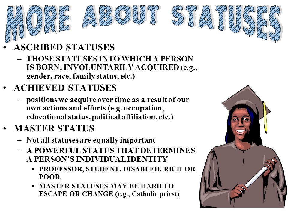 master status and intersectionality