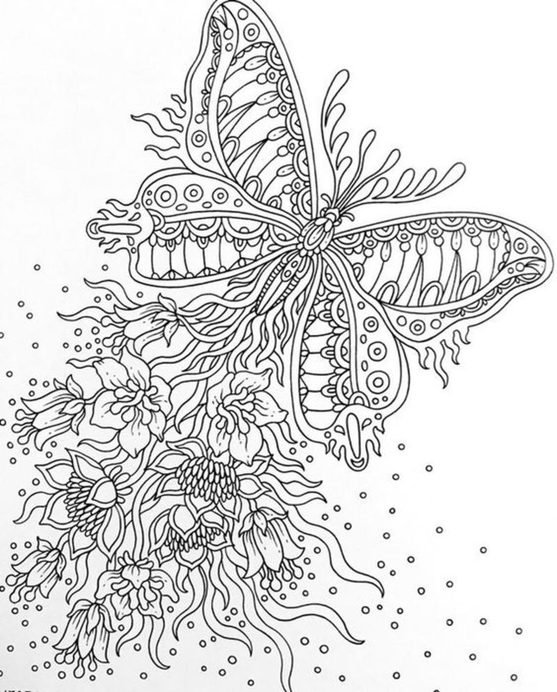 Coloriages Zen Divers Butterfly Coloring Page Animal Coloring Pages Fairy Coloring Pages