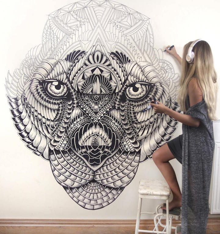 Majestic Animal Illustrations Hand Drawn with Intricately