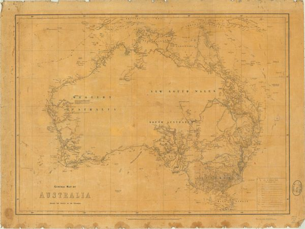 australia map 1859