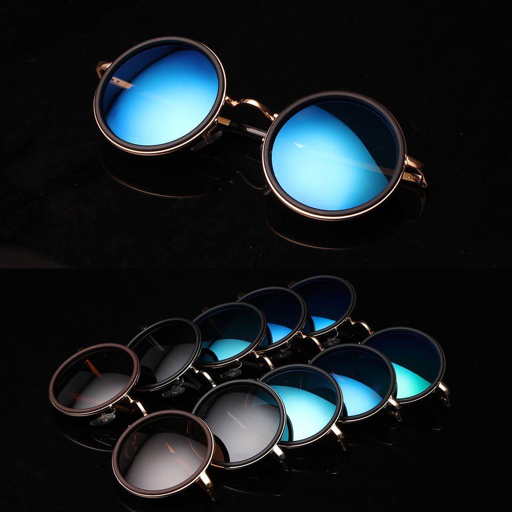 Details zu Polarisiert Rundbrille Sonnenbrille Retro Vintage Hippie ...