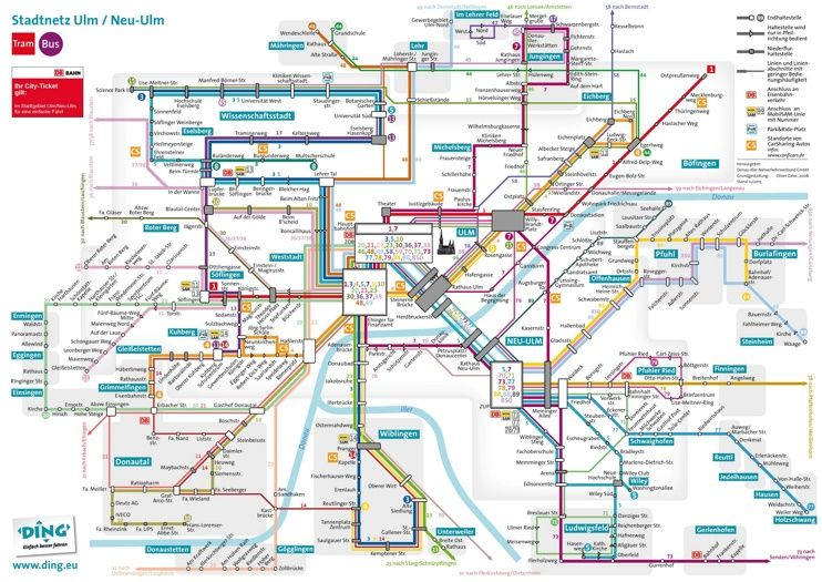 Ulm transport map Maps Pinterest Ulm and City