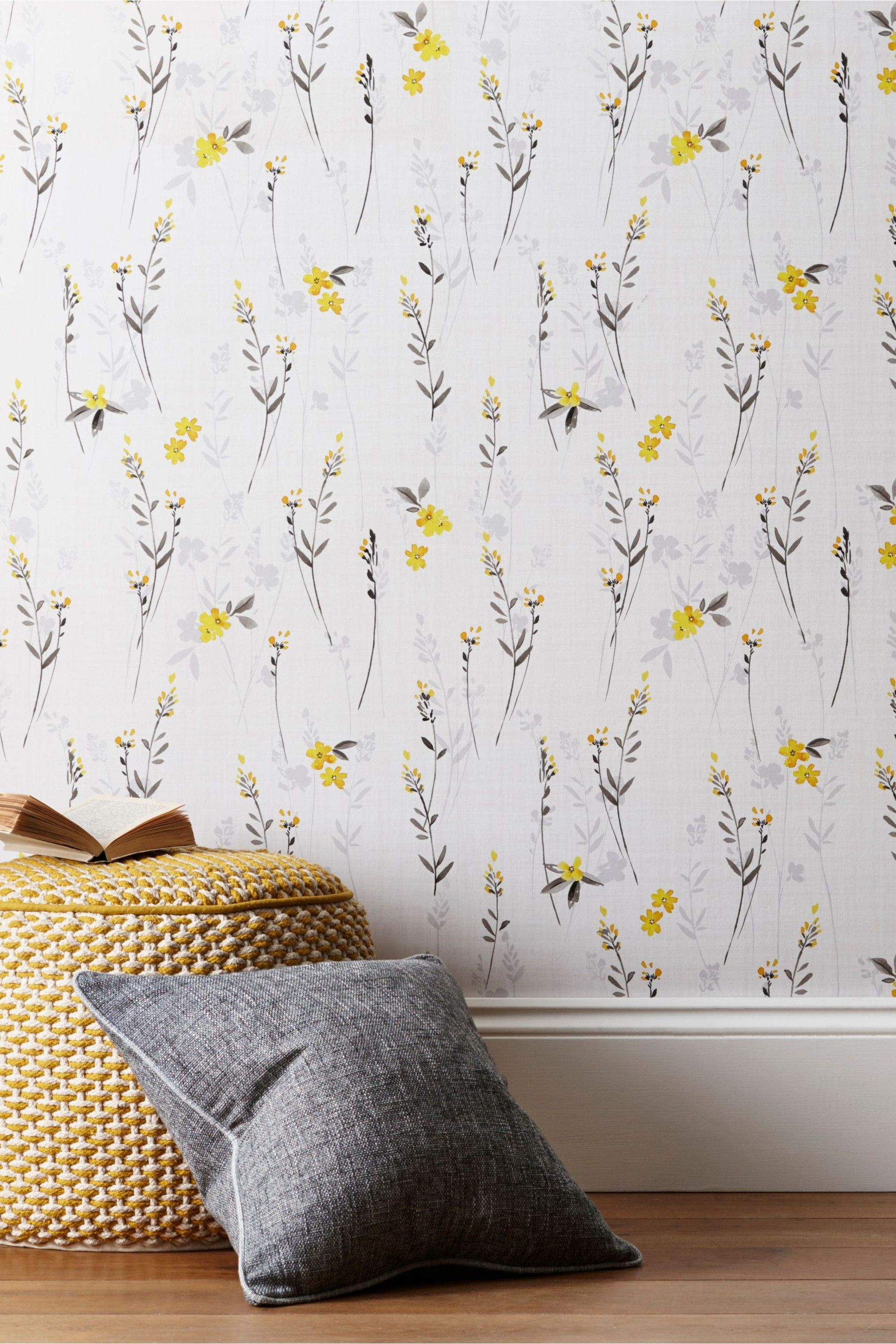 Next Paste The Wall Eden Floral Wallpaper Yellow In 2020