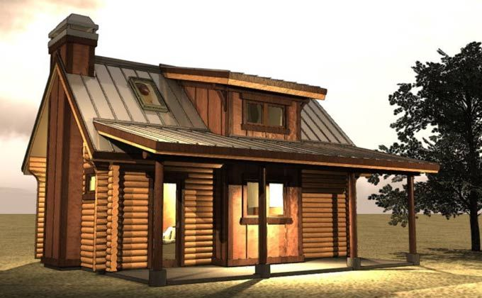 Small House Plans Small log cabin Log cabins and Cabin