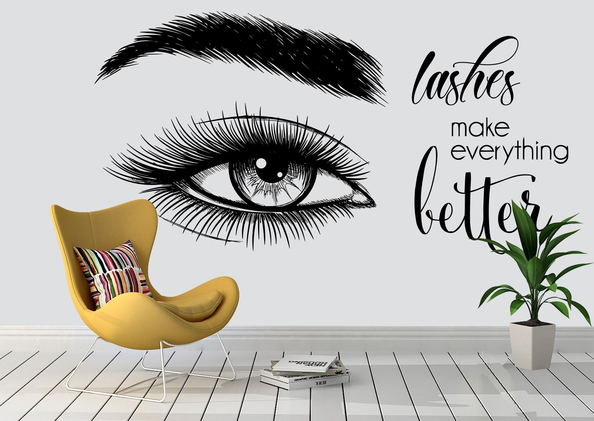 Eyelashes custom wall decor lashes salon beauty women