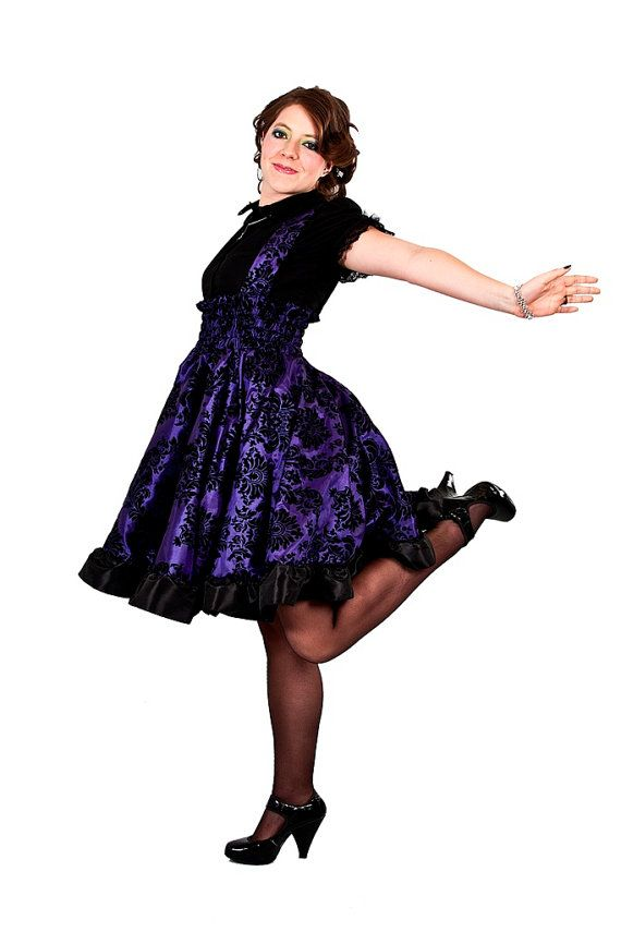 Plus Size Lolita Dress Purple Steampunk Jumper Custom To Your Size