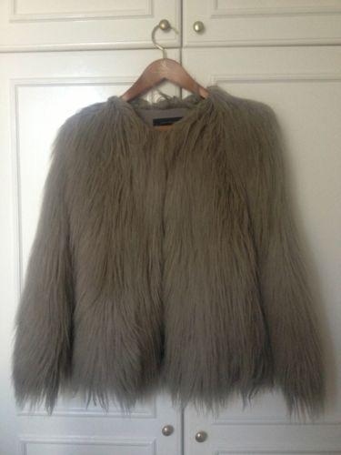 Zara női műszőrme kabát  5559f790ac