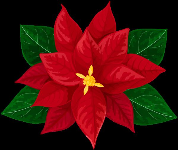 Poinsettia Transparent Clip Art Image Dibujos de navidad