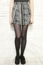 Silence + Noise Monochrome Zip Through Skirt