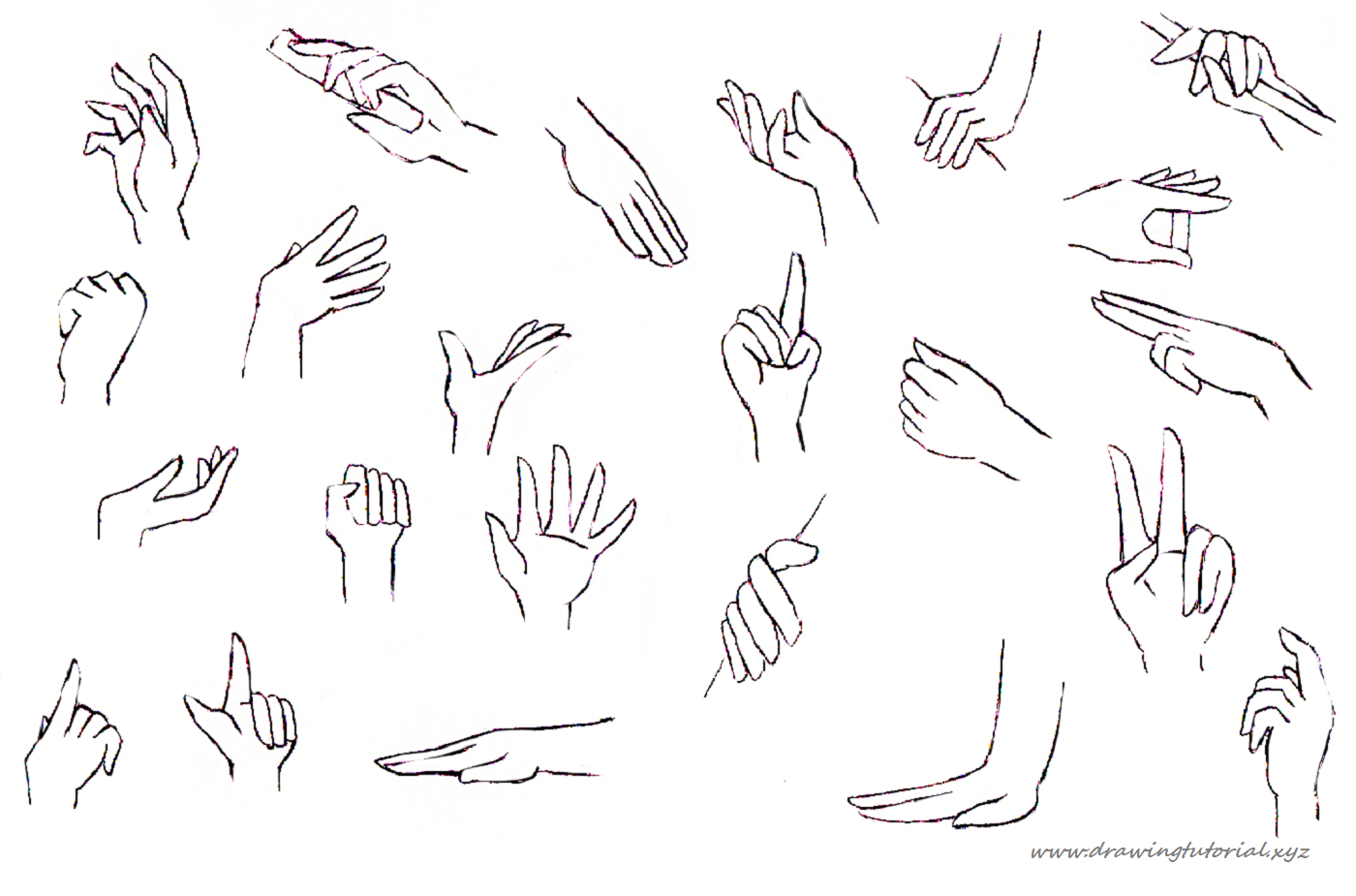 Scribble Drawing Anime : How to draw anime hands holding something